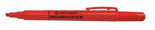 Zvýrazňovač Centropen Highlighter 8722 - klínový hrot, 1-4 mm, červený