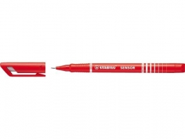 Liner Stabilo Sensor F 189/40 - 0,3 mm, červený