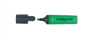 Zvýrazňovač Edding Highlighter 345 - klínový hrot, 2-5 mm, zelený