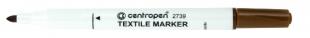 Popisovač na textil Centropen Textile Marker 2739 - 1,8 mm, hnědý