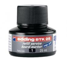 Náhradní inkoust do tabulových popisovačů Edding BTK 25 - černý, 25 ml