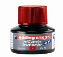Náhradní inkoust do tabulových popisovačů Edding BTK 25 - červený, 25 ml