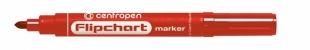 Popisovač Centropen Flipchart Marker 8550 - 2,5 mm, červený