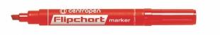 Popisovač Centropen Flipchart Marker 8560 - klínový hrot, 1-4,6 mm, červený
