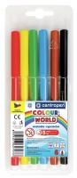 Barevný popisovač Centropen Colour World 7550/6 - 1 mm, sada 6 ks