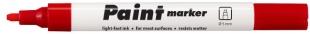 Lakový popisovač Centropen Paint Marker 9100 - klínový hrot, 1-5 mm, červený