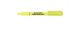 Zvýrazňovač Centropen 2822 - klínový hrot, 1-3 mm, žlutý