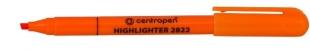 Zvýrazňovač Centropen 2822 - klínový hrot, 1-3 mm, oranžový
