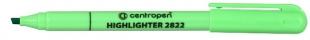 Zvýrazňovač Centropen 2822 - klínový hrot, 1-3 mm, zelený