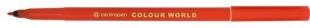 Barevný popisovač Centropen Colour World 7550 - 1 mm, červený
