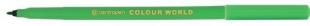 Barevný popisovač Centropen Colour World 7550 - 1 mm, zelený