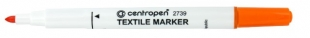 Popisovač na textil Centropen Textile Marker 2739 - 1,8 mm, oranžový
