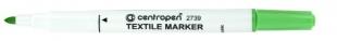 Popisovač na textil Centropen Textile Marker 2739 - 1,8 mm, žlutozelený
