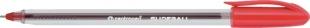 Jednorázové kuličkové pero Centropen Slideball 2215 - jehlový hrot, 0,3 mm, červený
