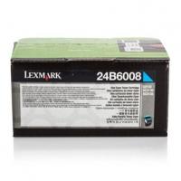Lexmark originální toner 24B6008, cyan, 3000str., 24B6008, high capacity, Lexmark