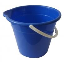 Kbelík s výlevkou Labuť - plastové, 12 l, mix barev