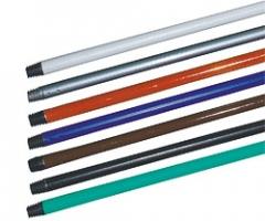Hůl na smeták 120 cm - plastová, hrubý závit, mix barev