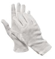 Bavlněné rukavice Kite - šité, bílé, velikost L
