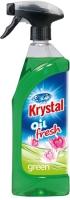 Olejový osvěžovač vzduchu Krystal - s rozprašovačem, zelený, 750 ml