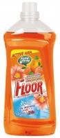 Čistící prostředek na podlahy a povrchy Floor sapon - oranžový, tropical, 1,5 l - DOPRODEJ