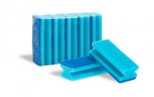 Houbička na nádobí Gastro - tvarovaná, 15x6,5x4,2 cm, modrá, 5 ks