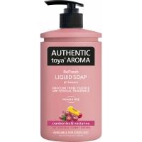 Tekuté mýdlo Authentic Toya Aroma - s dávkovačem, cranberries & nectarine, 400 ml