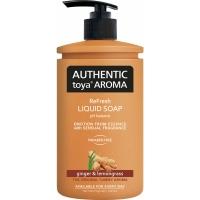 Tekuté mýdlo Authentic Toya Aroma - s dávkovačem, ginger & lemongrass, 400 ml