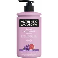 Tekuté mýdlo Authentic Toya Aroma - s dávkovačem, grapes & grapefruit, 400 ml