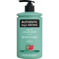 Tekuté mýdlo Authentic Toya Aroma - s dávkovačem, red watermelon, 400 ml