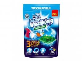 Gelové prací kapsle Waschkönig Universal - bílé a barevné prádlo, 30 ks
