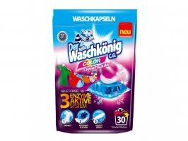 Gelové prací kapsle Waschkönig Color - barevné prádlo, 30 ks