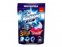 Gelové prací kapsle Waschkönig Black - tmavé a černé prádlo, 30 ks