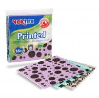 Vypratelná houbová utěrka Vektex Printed - potištěná, 100% přírodní, 3 ks
