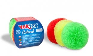 Plastová drátěnka Vektex Colored - 8 g, mix barev, 3 ks