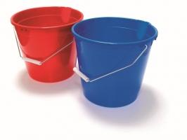 Plastový kbelík 10 l - s kovovým uchem, mix barev