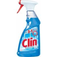 Mycí prostředek na okna a skla Clin - s alkoholem, s rozprašovačem, modrý, 500 ml