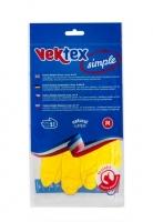 Úklidové rukavice Vektex M-8 - gumové-latexové, žluté