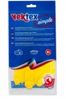 Úklidové rukavice Vektex XL-10 - gumové-latexové, žluté