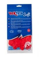 Úklidové rukavice Vektex Soft M-8 - gumové-latexové, červené
