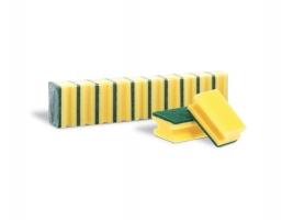 Houbička na nádobí - tvarovaná, 9,5x6,5x4,3 cm, žlutá, 10 ks