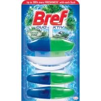 Závěsný WC blok Bref Duo Aktiv - s košíčkem, pine, 3x50 ml