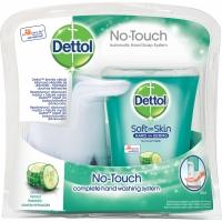 Bezdotykový dávkovač mýdla a náplň Dettol - svěžest okurky, 250 ml