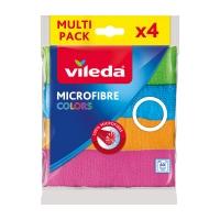 Švédská utěrka Vileda Microfibre Colors - mikrovlákno, 30x30 cm, 4 barvy