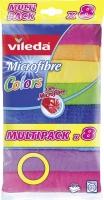 Švédská utěrka Vileda Microfibre Colors Multipack - mikrovlákno, 30x30 cm, 8 barev
