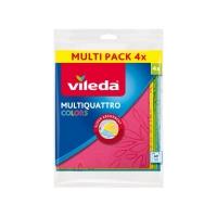 Utěrka Vileda Multiquattro - netkaná textilie, 34x36 cm, mix barev, 4 ks