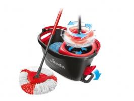 Úklidový set Vileda Easy Wring & Clean Turbo - s třásňovým rotačním mopem, s nášlapným pedálem