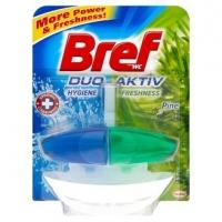 Závěsný WC blok Bref Duo-Aktiv - s košíčkem, pine, 50 ml