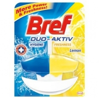 Závěsný WC blok Bref Duo-Aktiv - s košíčkem, lemon, 50 ml