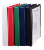 Čtyřkroužkový katalogový vazač A4 Personal D20 - hřbet 3,5 cm, tvrdý plast, zelený