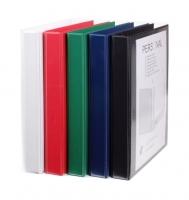 Čtyřkroužkový katalogový vazač A4 Personal D25 - hřbet 4 cm, tvrdý plast, červený